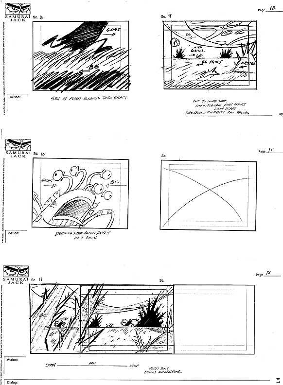 draw   samurai jack storyboard ep 22 part 1